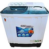 Super General 12 Kg Twin Tub Semi Automatic Washing Machine, White - SGW125