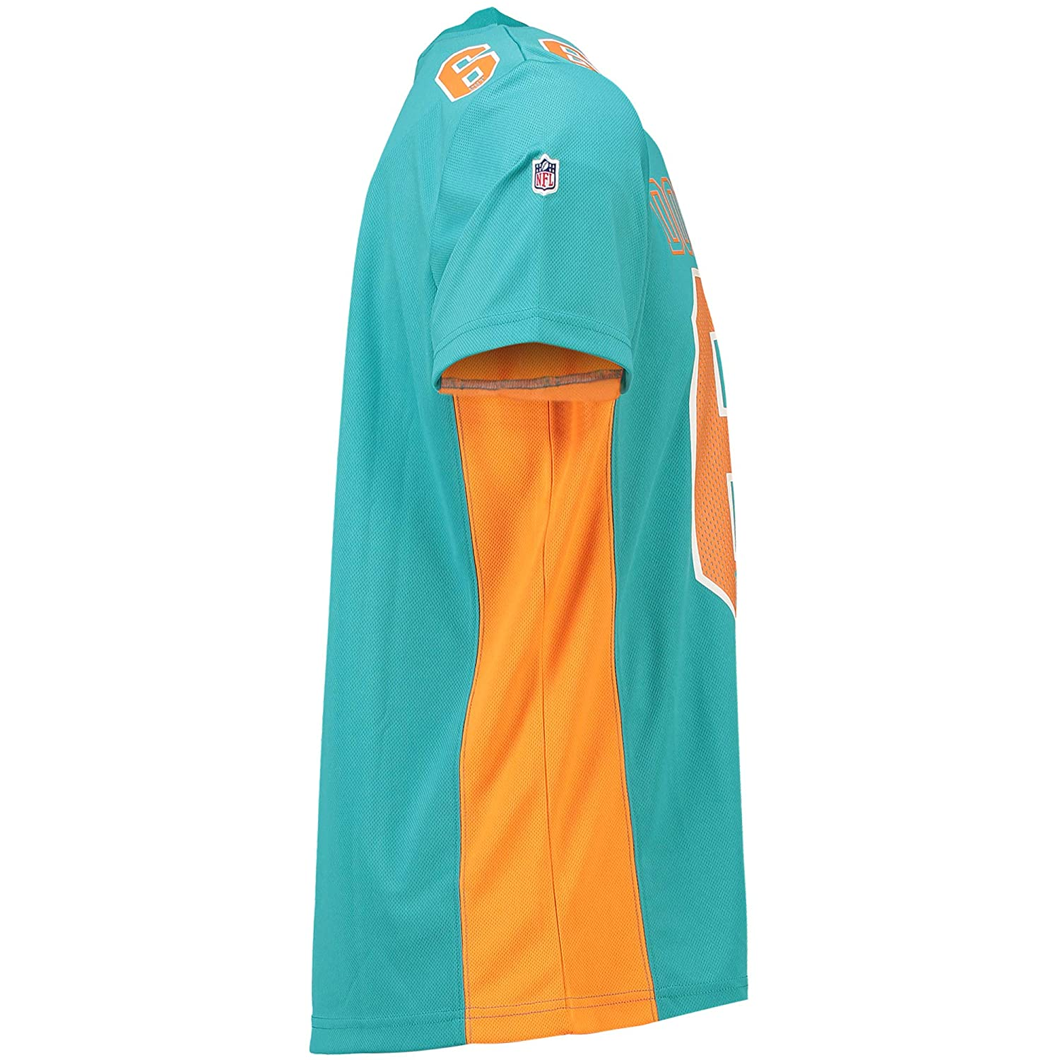 Majestic Athletic Miami Dolphins NFL Moro Poly Mesh Jersey Tee T-Shirt Trikot