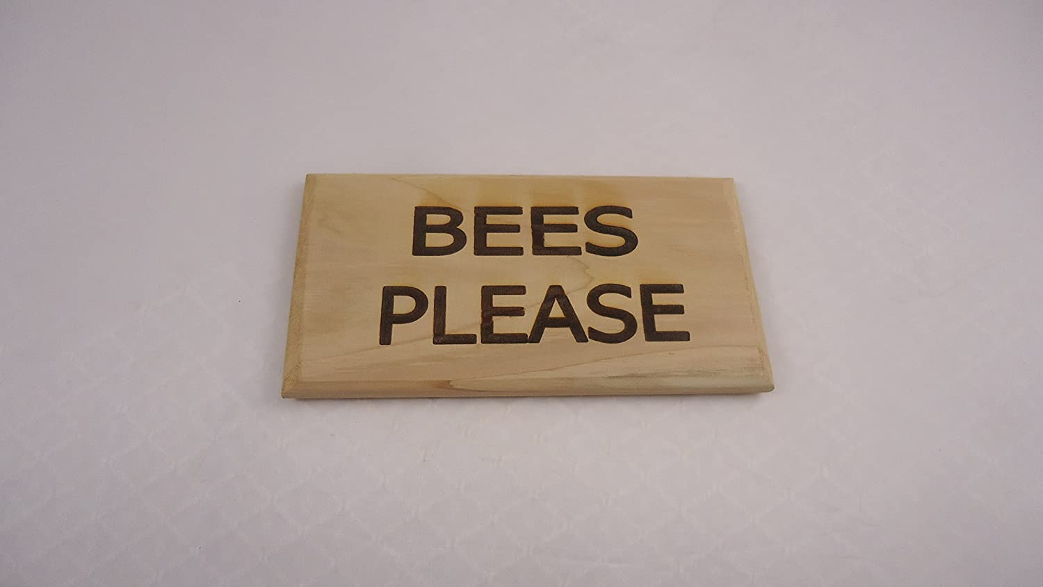 BEES PLEASE SIGN WITH STAKE LEEWAY WOODWORK
