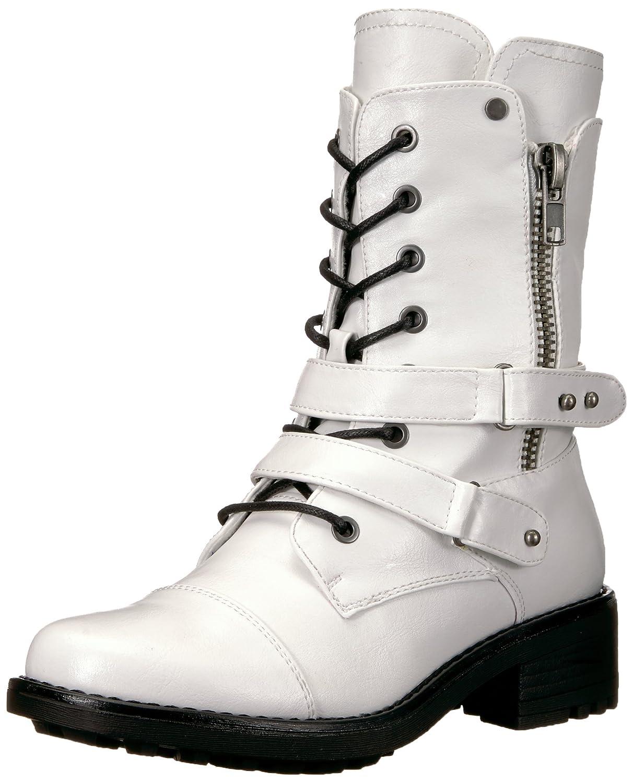 Carlos by Carlos Santana Women's Sage Motorcycle Boot B077H5TSMK 7.5 B(M) US|White