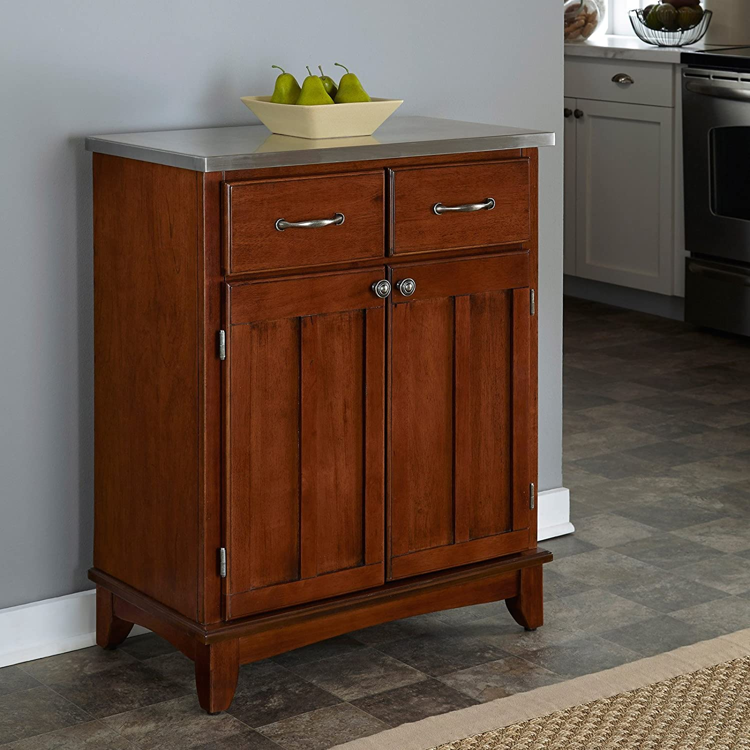 Amazon Home Styles Small Wood Server Kitchen Island