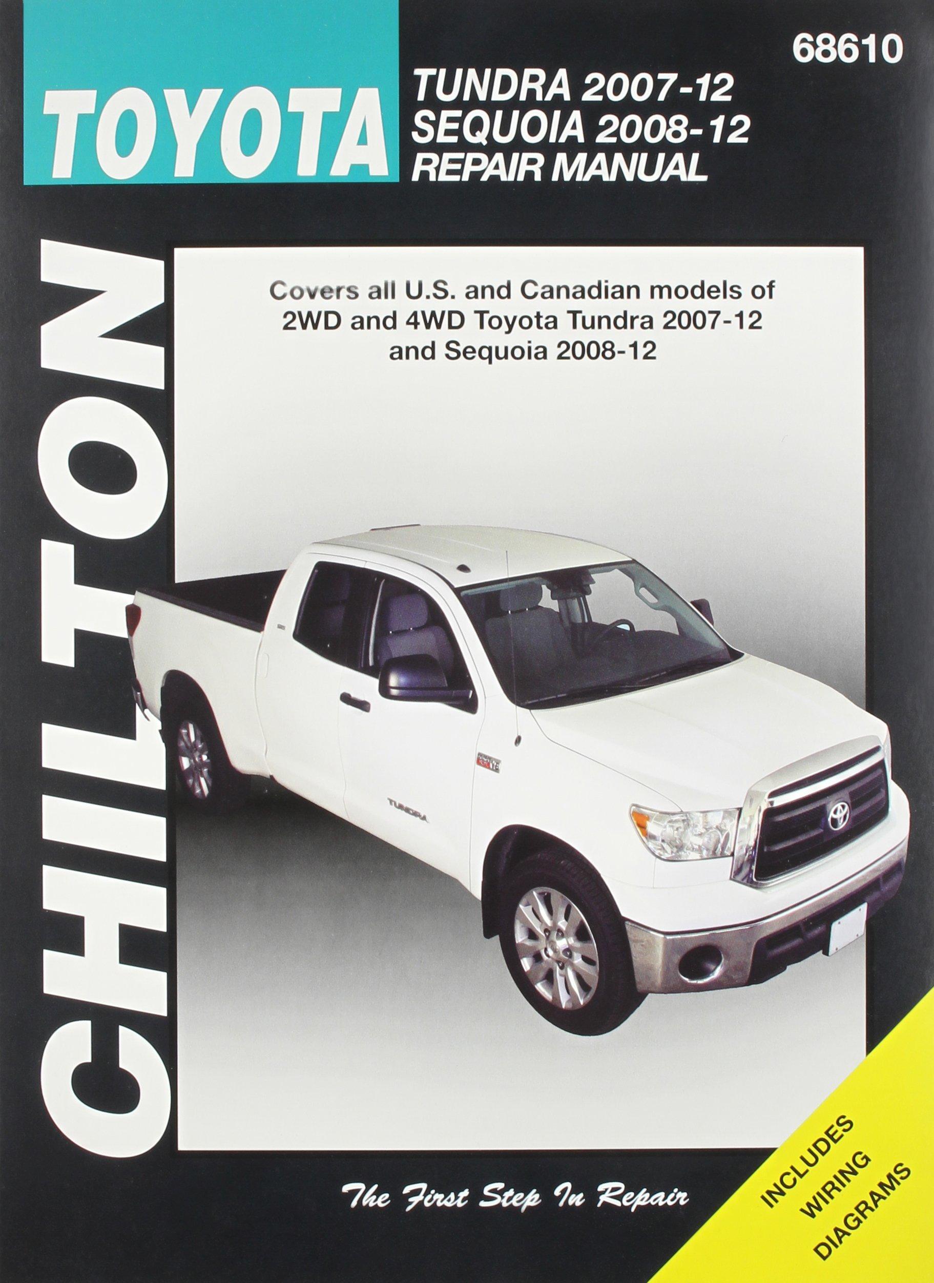 Chilton Toyota Tundra 2007 12 Sequoia 2008 Repair Manual Wiring Diagram Haynes Manuals 9781620920541 Books