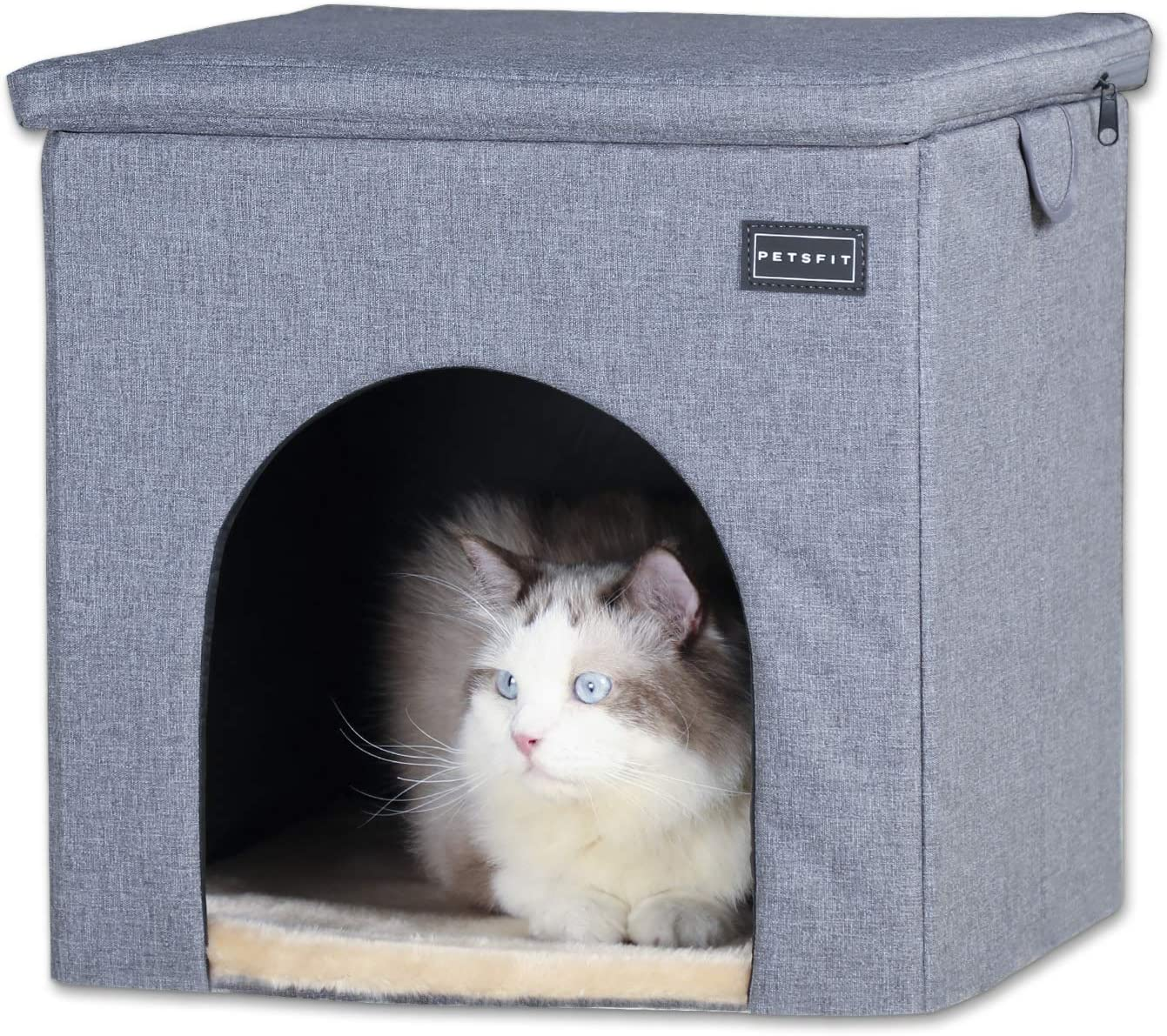Petsfit Sturdy Cat House Chair Small Dog House Chair For Indoor Use Collapsible Washable Pet House Sturdiness And Easy To Assemble 16 X 16 X 16 5 Pet Supplies