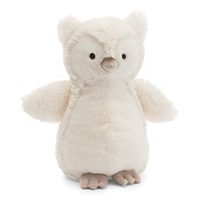 Jellycat Bashful Owl Stuffed Animal, Medium, 12 inches: Toys & Games