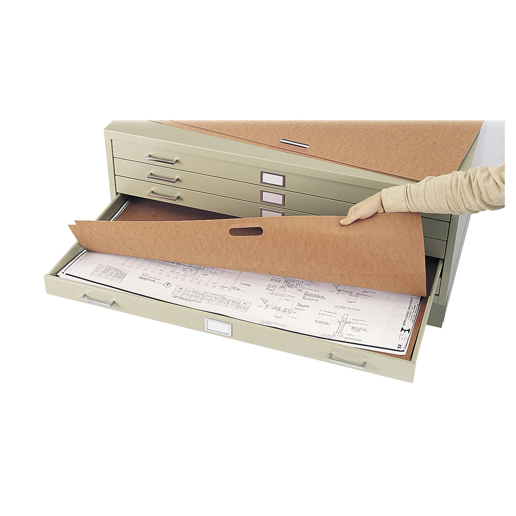 Plan File Portfolio for 5 and 10 Drawer Steel Flat File for 30'' x 42'' - Qty 10 by Safco Products