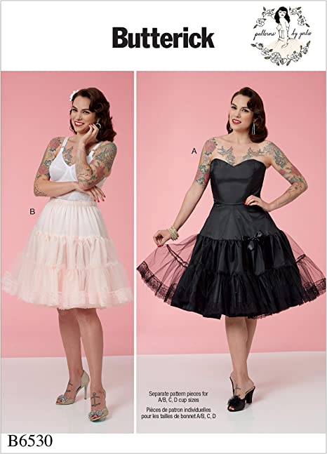 6-8-10-12-14 McCall Patterns M6706 Misses Skirts and Petticoat Sewing Template Size A5