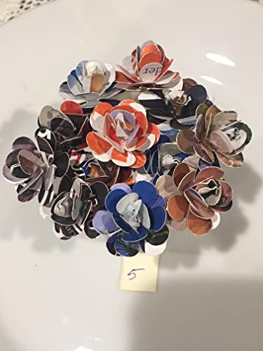 Amazon Recycle Paper Flowers On A Toothpick Handmade