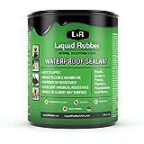 Liquid Rubber Waterproof Sealant - Indoor & Outdoor Coating - Easy to Apply - Water Based - Original Black, 1 Quart