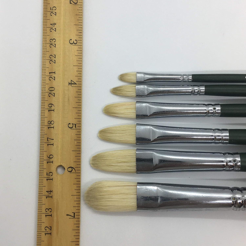 cabezales de pincel de cerdas para uso profesional decoraci/ón manualidades y m/ás GTSE Juego de 5 pinceles de pintura de alta calidad