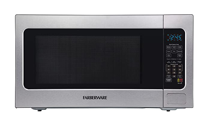 Farberware FMO22ABTBKA 2.2 Cu. Ft. 1200-Watt Microwave Oven with Smart Sensor Cooking, ECO Mode and LED Lighting Stainless Steel