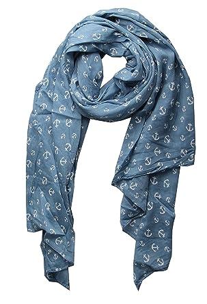 50833dbf82a Écharpe en soie avec imprimé ancre - Pour femme - Par Cashmere Dreams -  Turquoise -