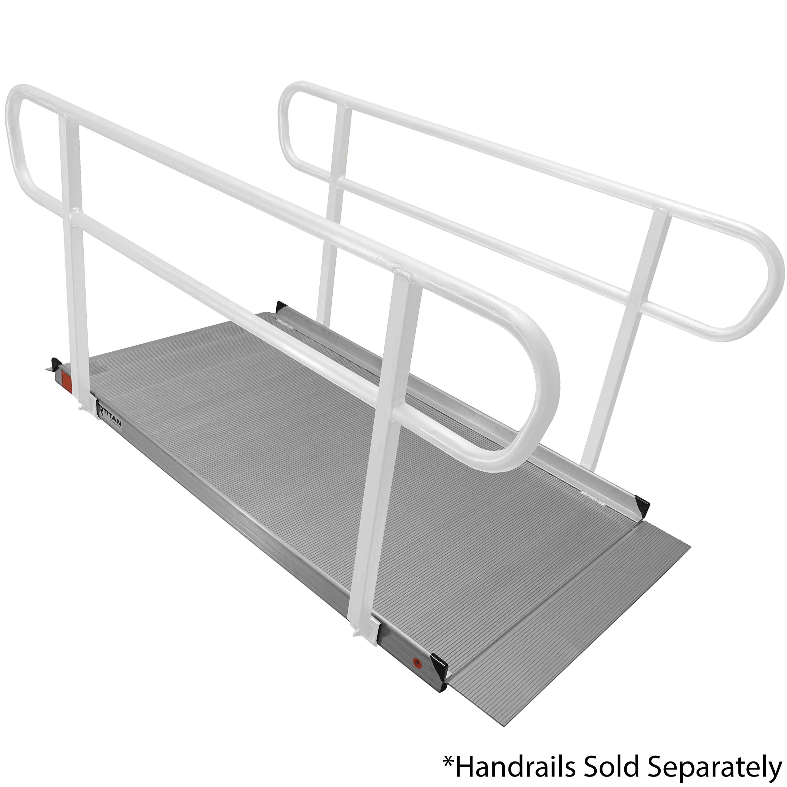 Titan 6' Aluminum Wheelchair Entry Ramp Solid Surface Scooter Mobility Access