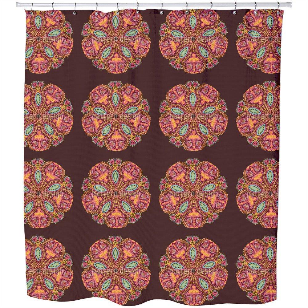 Uneekee The Mandala Of The Maharani Shower Curtain: Large Waterproof Luxurious Bathroom Design Woven Fabric by uneekee (Image #1)
