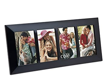 philip whitney 4 opening 4x6 black wood collage picture frame