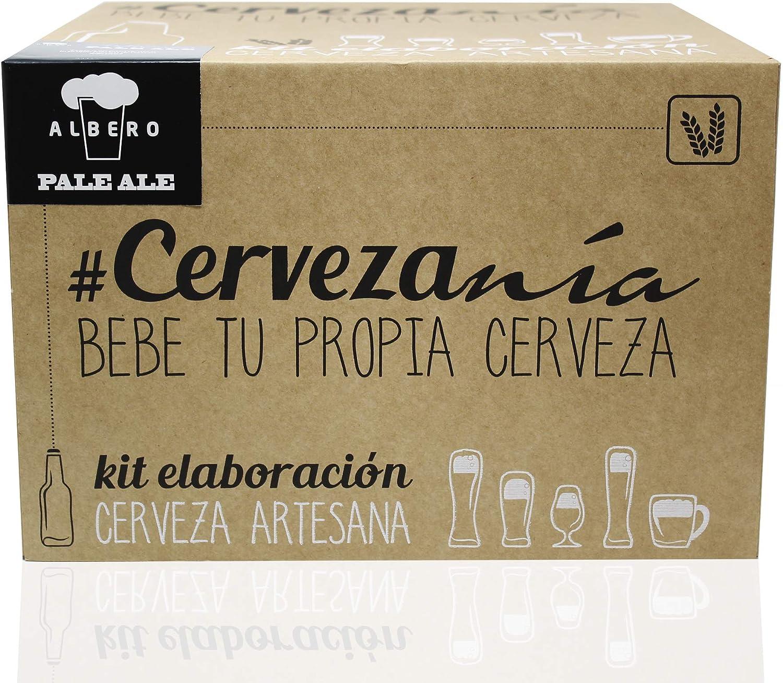 #Cervezanía - Kit de elaboración de cerveza rubia Pale Ale | 5 litros cerveza en casa | Lúpulos frescos