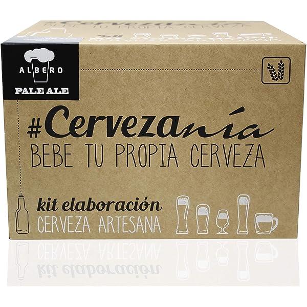 Cervezanía - Kit de elaboración de cerveza rubia Pale Ale   5 litros cerveza en casa   Lúpulos frescos: Amazon.es: Alimentación y bebidas