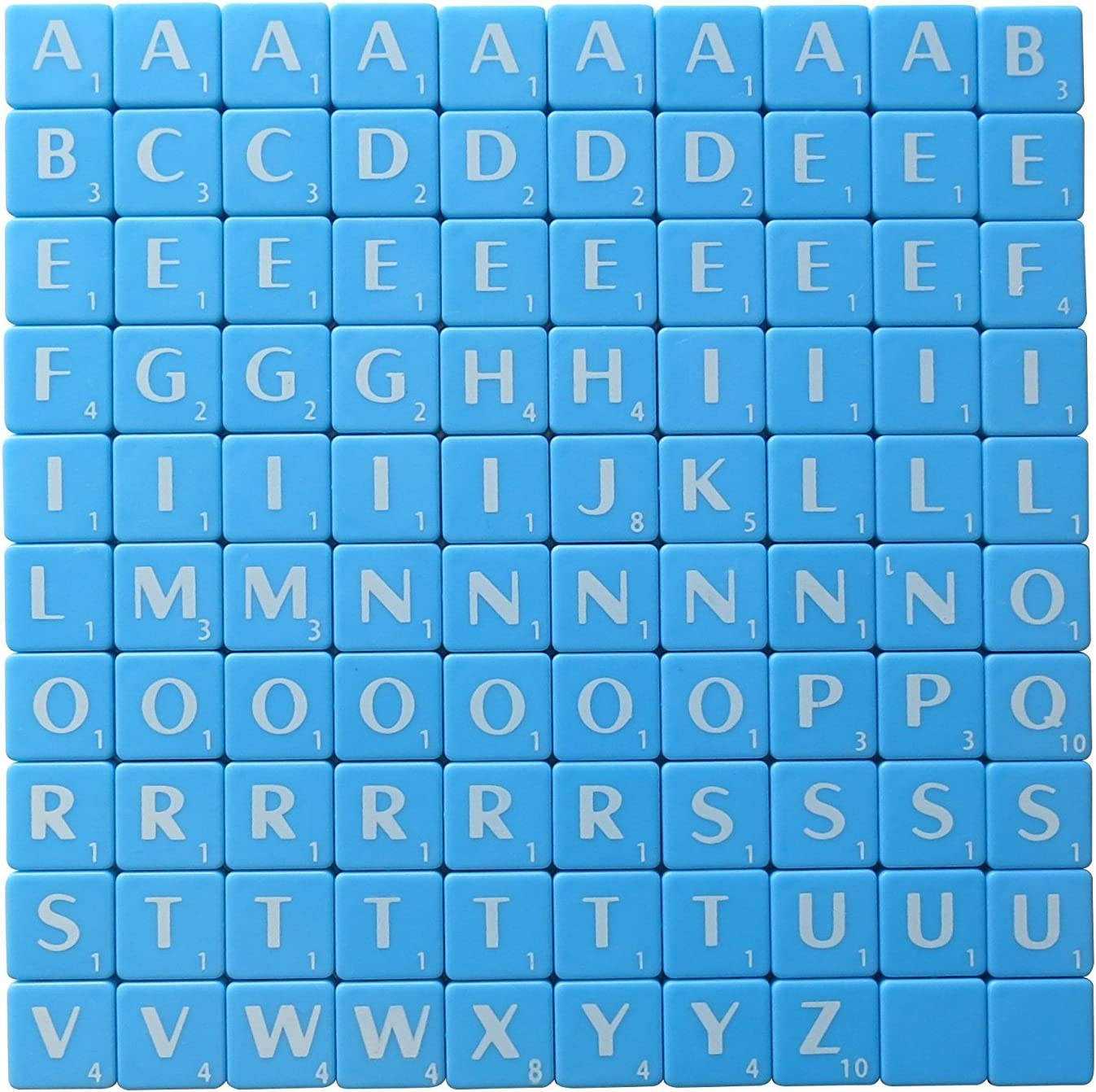 Scrabble Message Board Replacement Magnetic Letter Tile Set 100 Full Sheet New