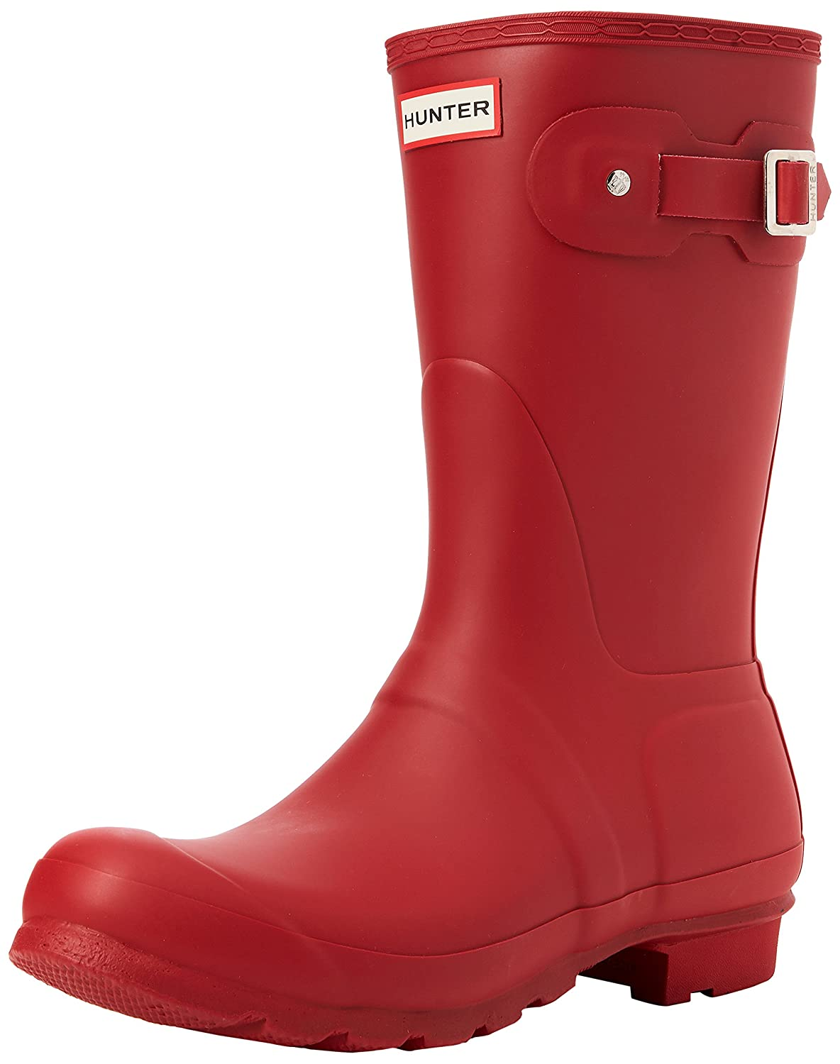 Hunter Women's Original Short Rain Boot B00K1WBAME 5 B(M) US|Military Red