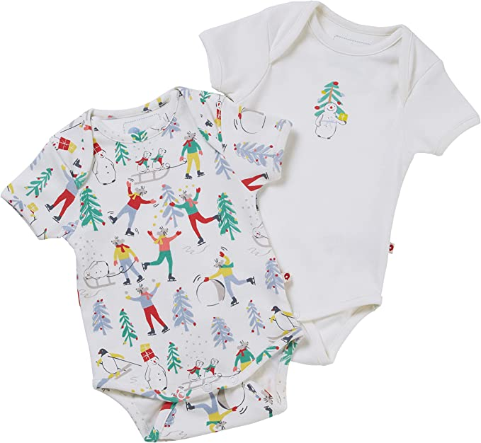 Piccalilly Baby First Christmas Body para bebé, paquete de 2 ...