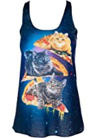 Sidecca Galactic Space Cat Pizza Tank