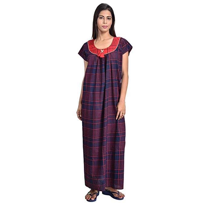 ed0e71875d Piyali s Creation Women s Pure Cotton Printed Nightwear for Women s   Amazon.in  Clothing   Accessories