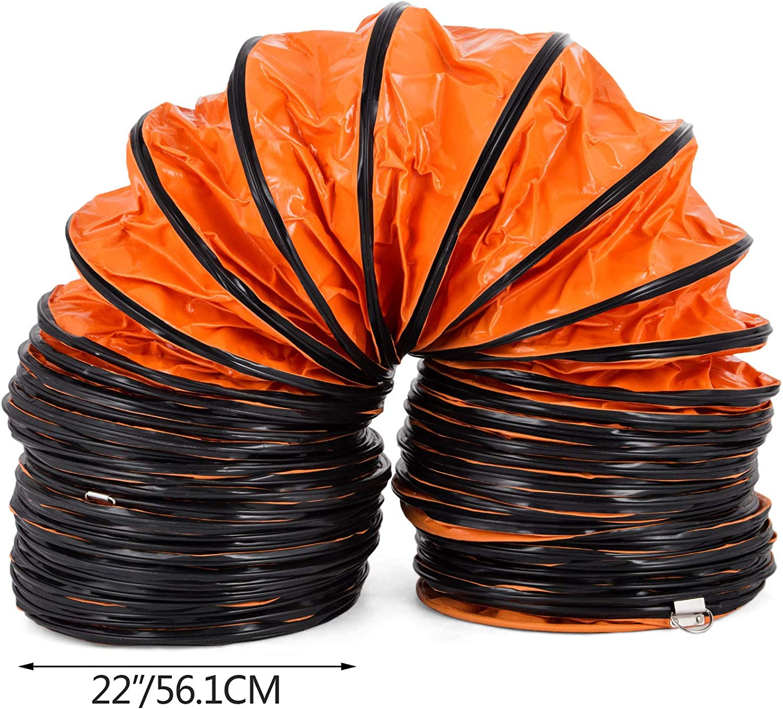 Frantools Lufttransportschlauch PVC Warmluftschlauch L/änge 7,6 M Durchmesser 560 mm Bel/üftungsschlauch