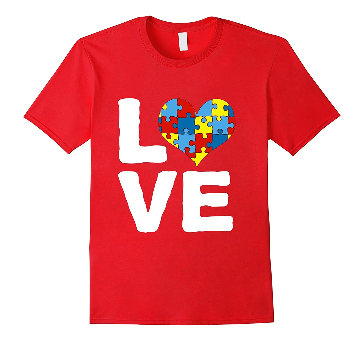 Autism Mom Love Awareness Tee for Women-TH