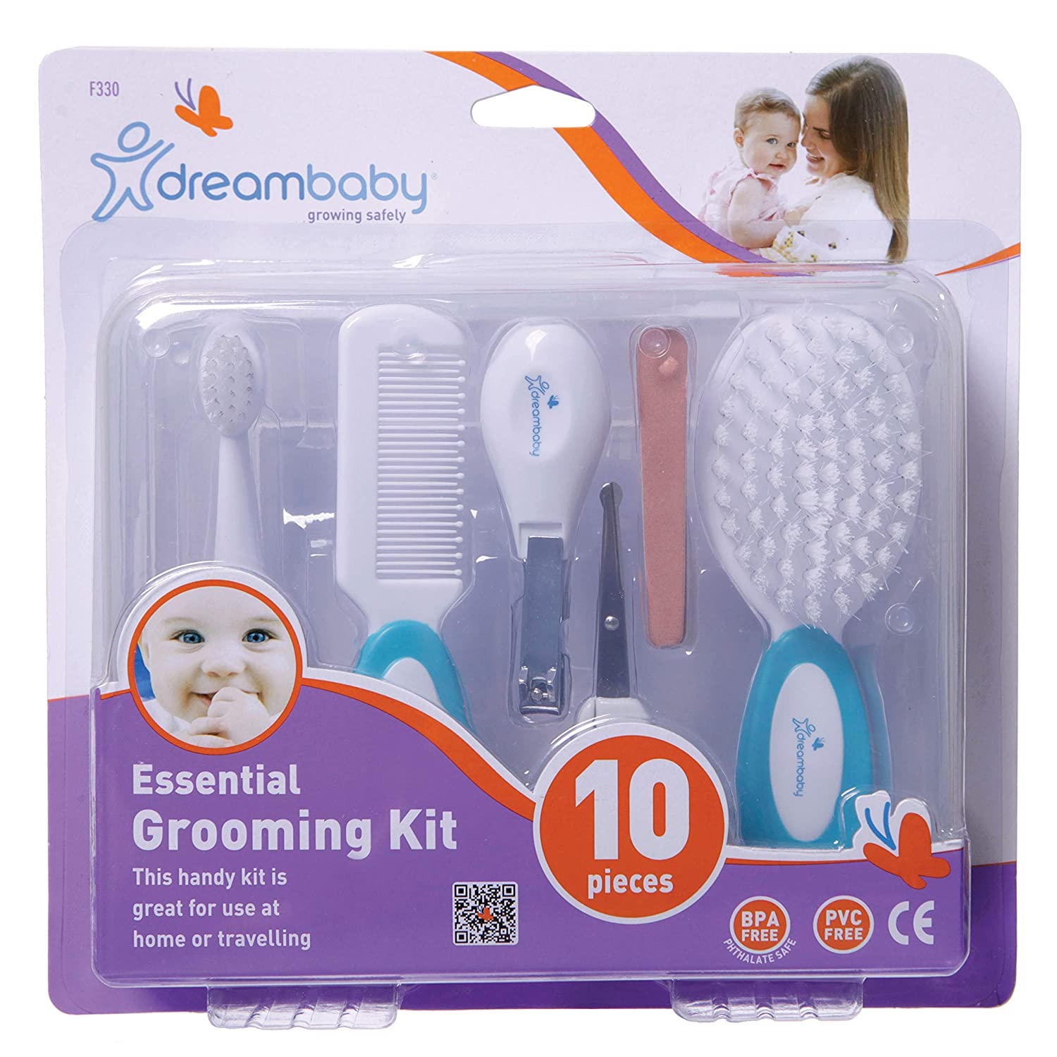 Dreambaby 10 Piece Essential Grooming Kit, Aqua
