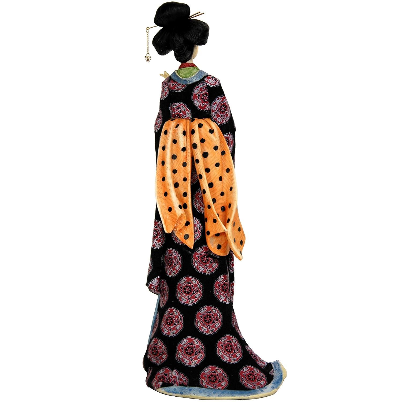 Oriental Furniture 18 Geisha Figurine w// Pale Gold Sash STA-GSH9