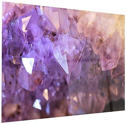 Amazon com: Designart Purple White Natural Amethyst Geode - Large