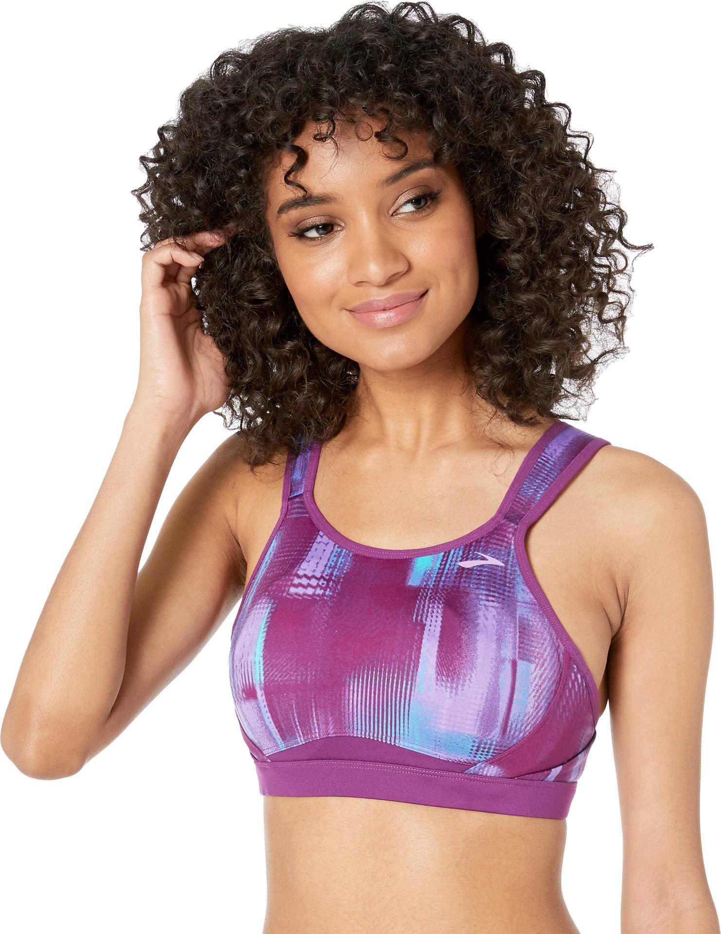 Brooks Women's Maia Back-Adjustable Medium-Impact Sports Bra (C-E)   Moving Comfort Violet Pulse/Violet 32C