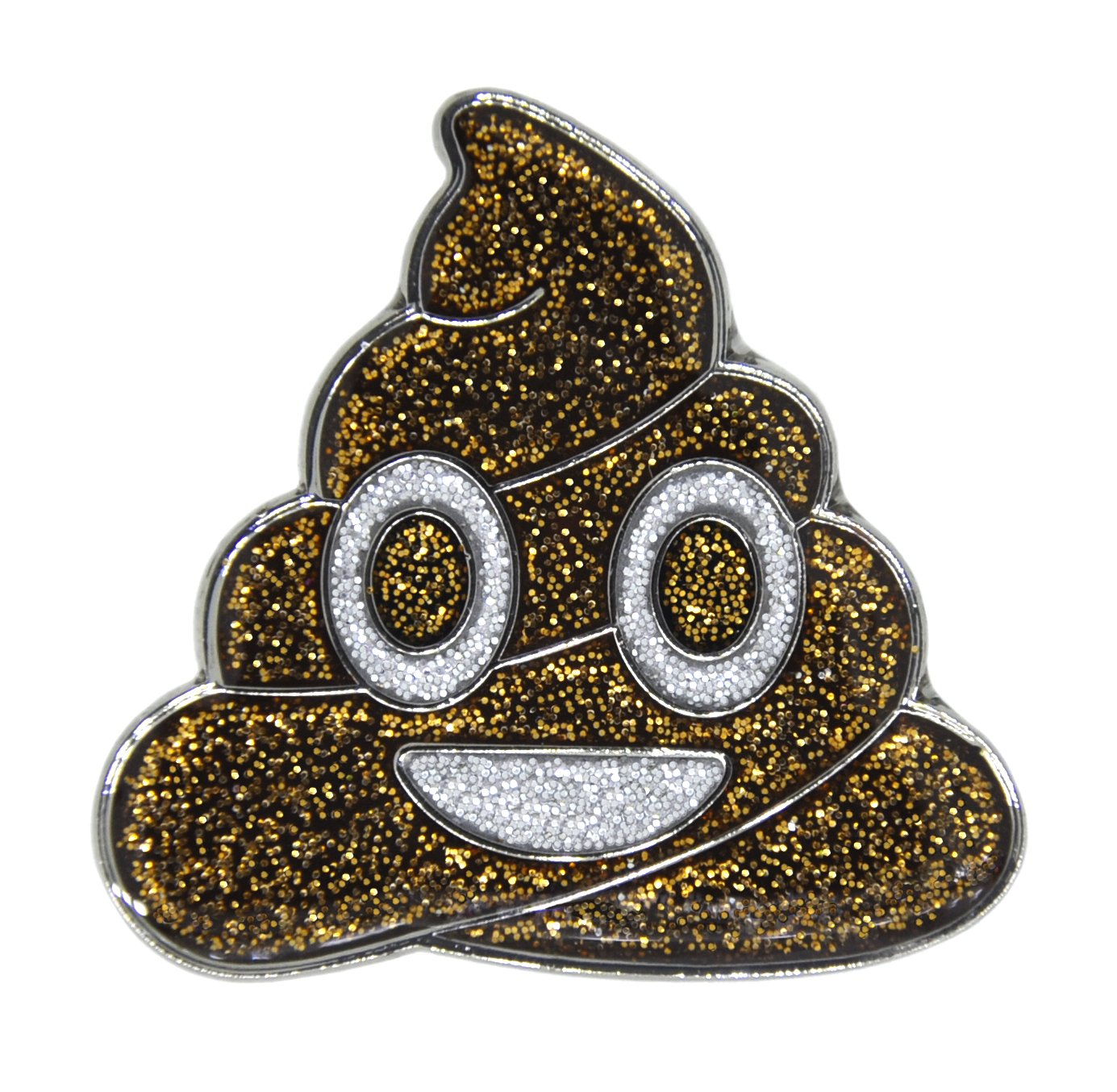 Navika Emoji Oh $h t Poop Glitzy Ball Marker with Magnetic Hat Clip