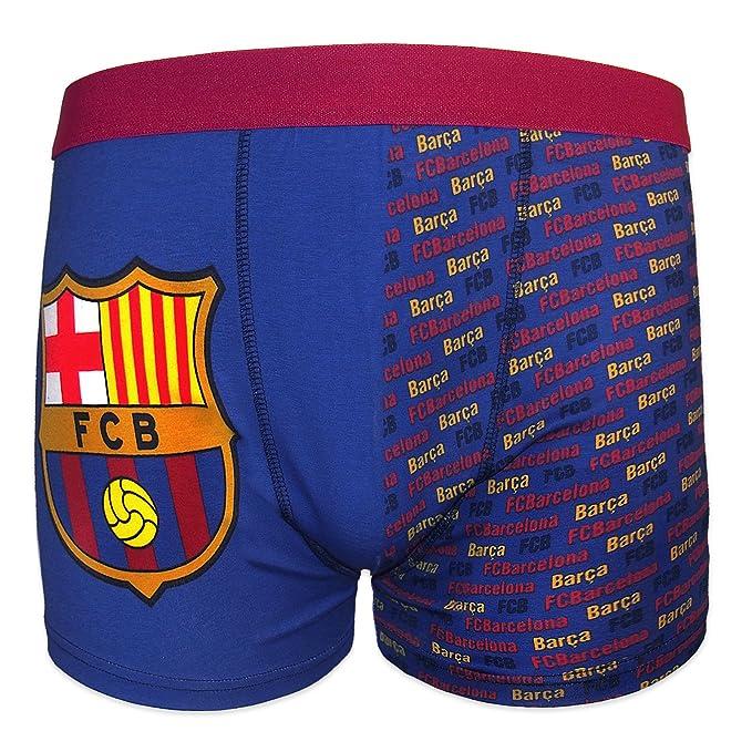 FC Barcelona - Calzoncillos oficiales de estilo bóxer - Para niños - Con el escudo del