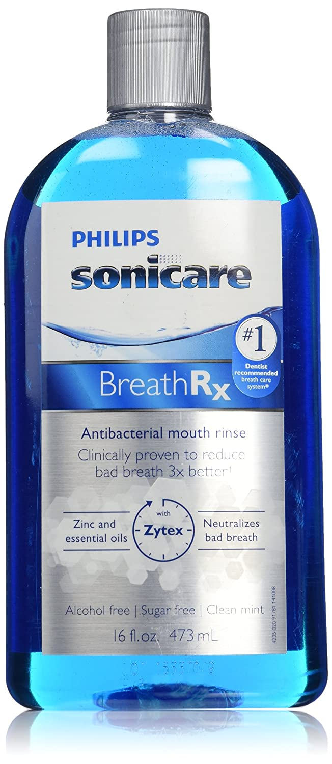 Philips Sonicare Breathrx Antibacterial Mouth Rinse, 16 FL. OZ. Philips Oral Healthcare DIS364/03
