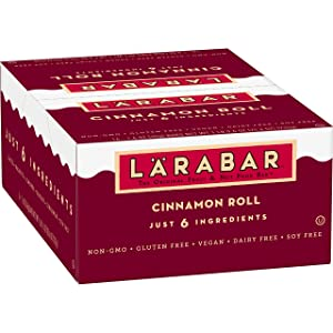 Larabar, Fruit & Nut Bar, Cinnamon Roll, Gluten Free, Vegan, 16 ct, 25.6 oz