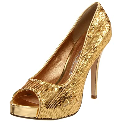 4 Inch Sequins Shoes High Heel Glamour Shoes Peep Toe Pumps Size  5 Colors  9fdd9ae35