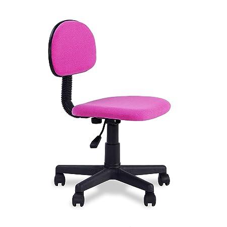 Adec - Lucky, Silla de Escritorio giratoria, Silla Juvenil de oficina,  acabado en color Rosa, Medidas: 54 x 88 cm alto