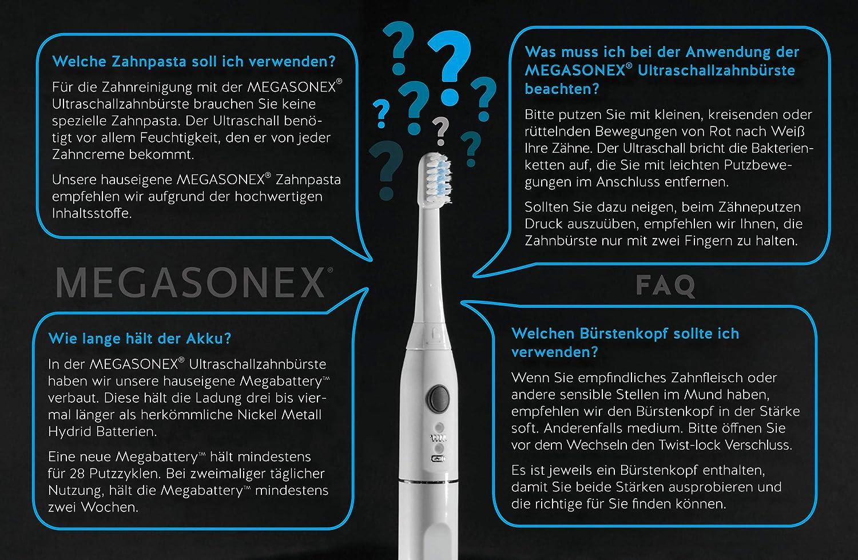 MEGASONEX Ultrasound toothbrush+tonguescraper+toothpaste ( All