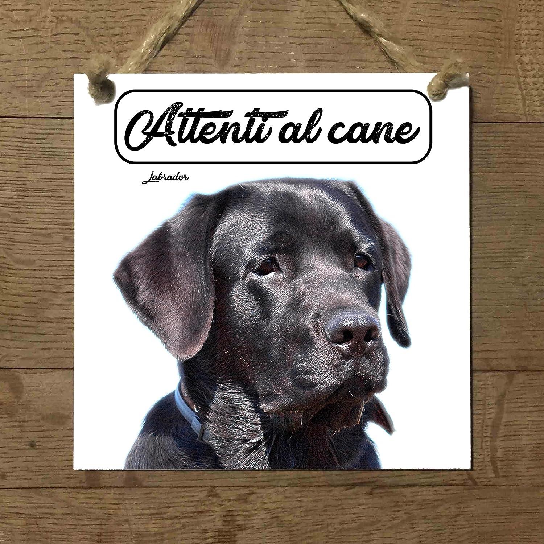 Labrador Negro Mod 1 cuidado con el Perro matrícula azulejo ...