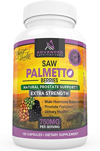 Saw Palmetto, 1500mg per Day, 120 Count 750mg Capsules