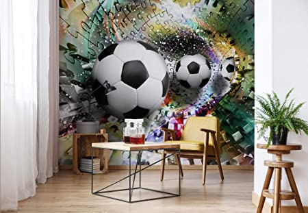 Colorful Puzzle Football