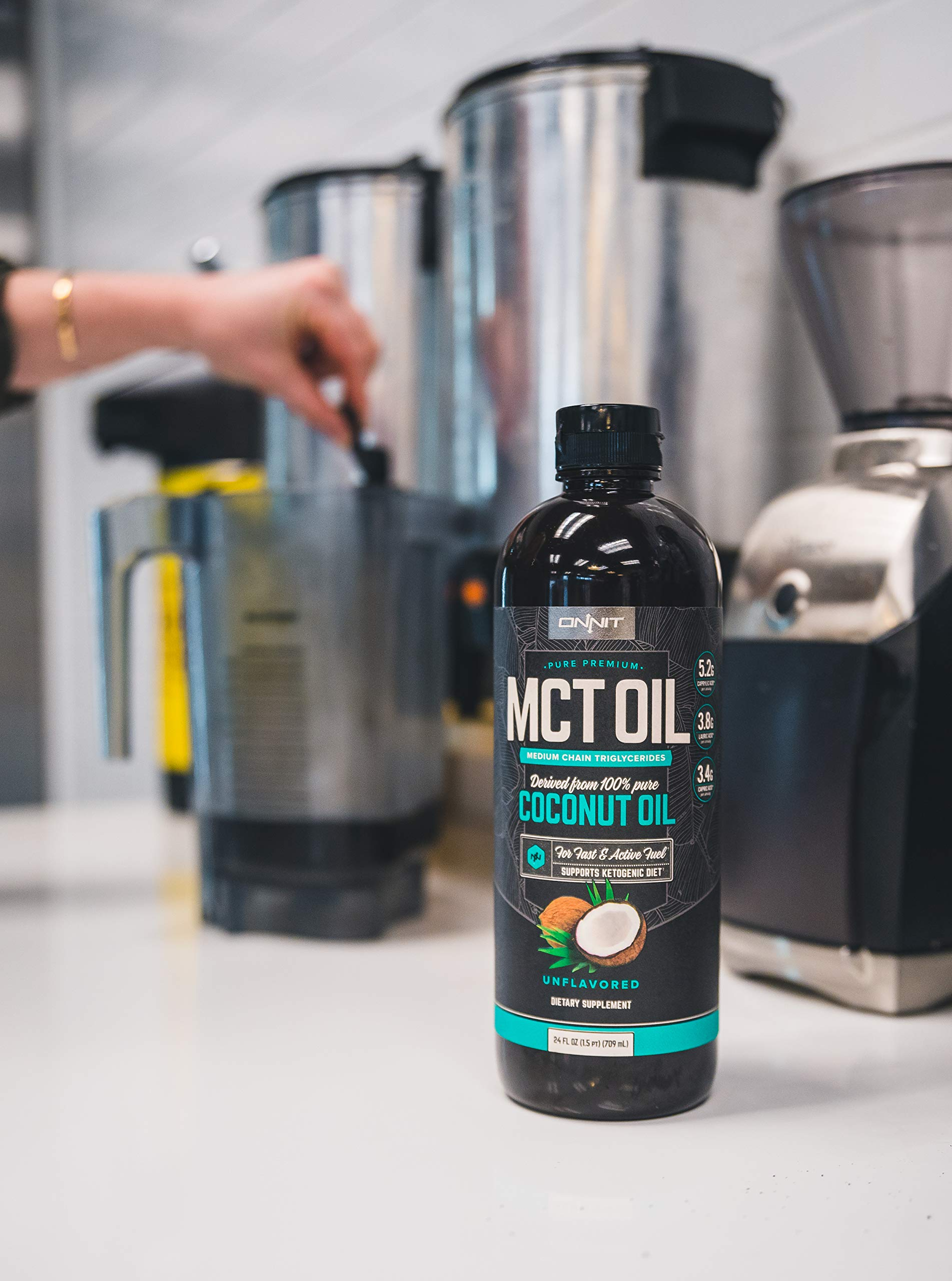 Onnit MCT Oil - Pure MCT Coconut Oil, Ketogenic Diet and Paleo Optimized with C8, C10, Lauric Acid - Perfect for Coffee, Shakes, and Cooking (Flavorless - 24oz) by ONNIT (Image #5)
