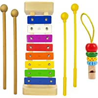 Xylophone for Kids :Best Gift Idea For Birthday/Holiday Kid Coming With Four Child-Safe Mallets 2 Mallets Wood 2 Mallets…