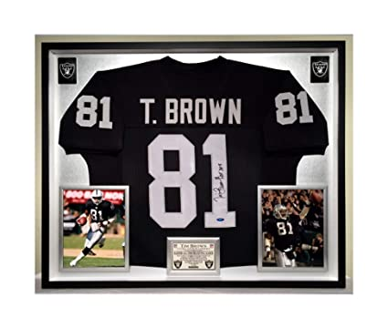 promo code 4d587 cf2b2 Premium Framed Tim Brown Autographed/Signed Oakland Raiders ...