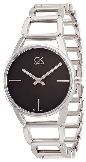 Calvin Klein ck stately K3G23121 - Reloj analógico de cuarzo para mujer, correa de acero
