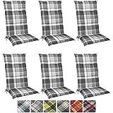 beautissu 6er set floral hochlehner auflagen set f r. Black Bedroom Furniture Sets. Home Design Ideas