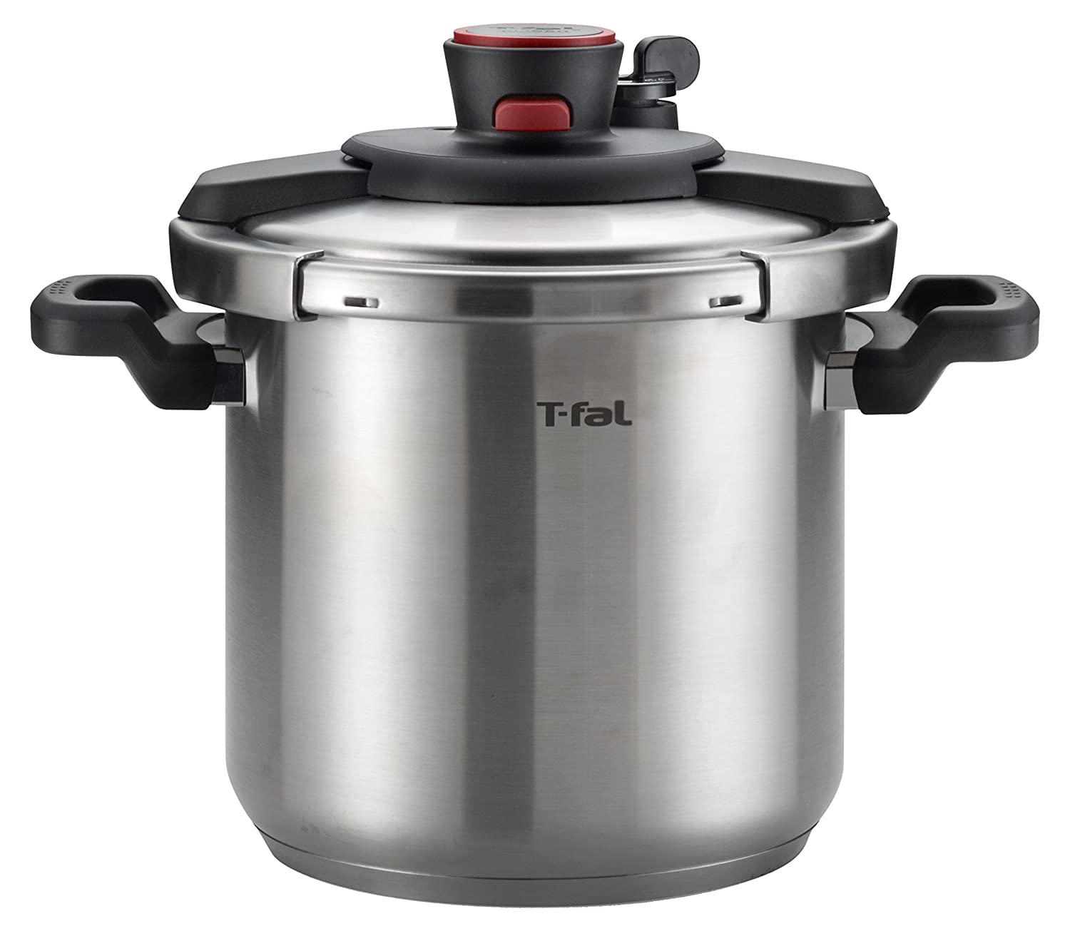T-fal P45009 Clipso Stainless Steel Dishwasher Safe PTFE PFOA and Cadmium Free 12-PSI Pressure Cooker Cookware, 8-Quart, Silver