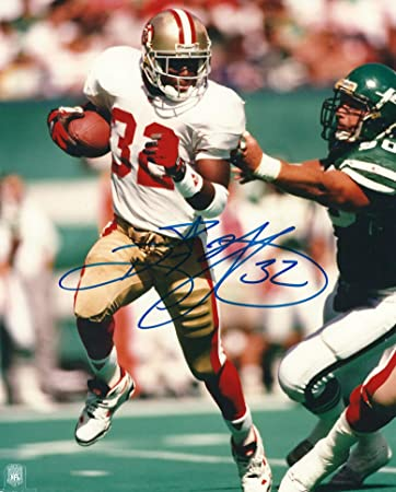 864189cca Image Unavailable. Image not available for. Color  Autographed Ricky Watters  8x10 San Francisco 49ers Photo