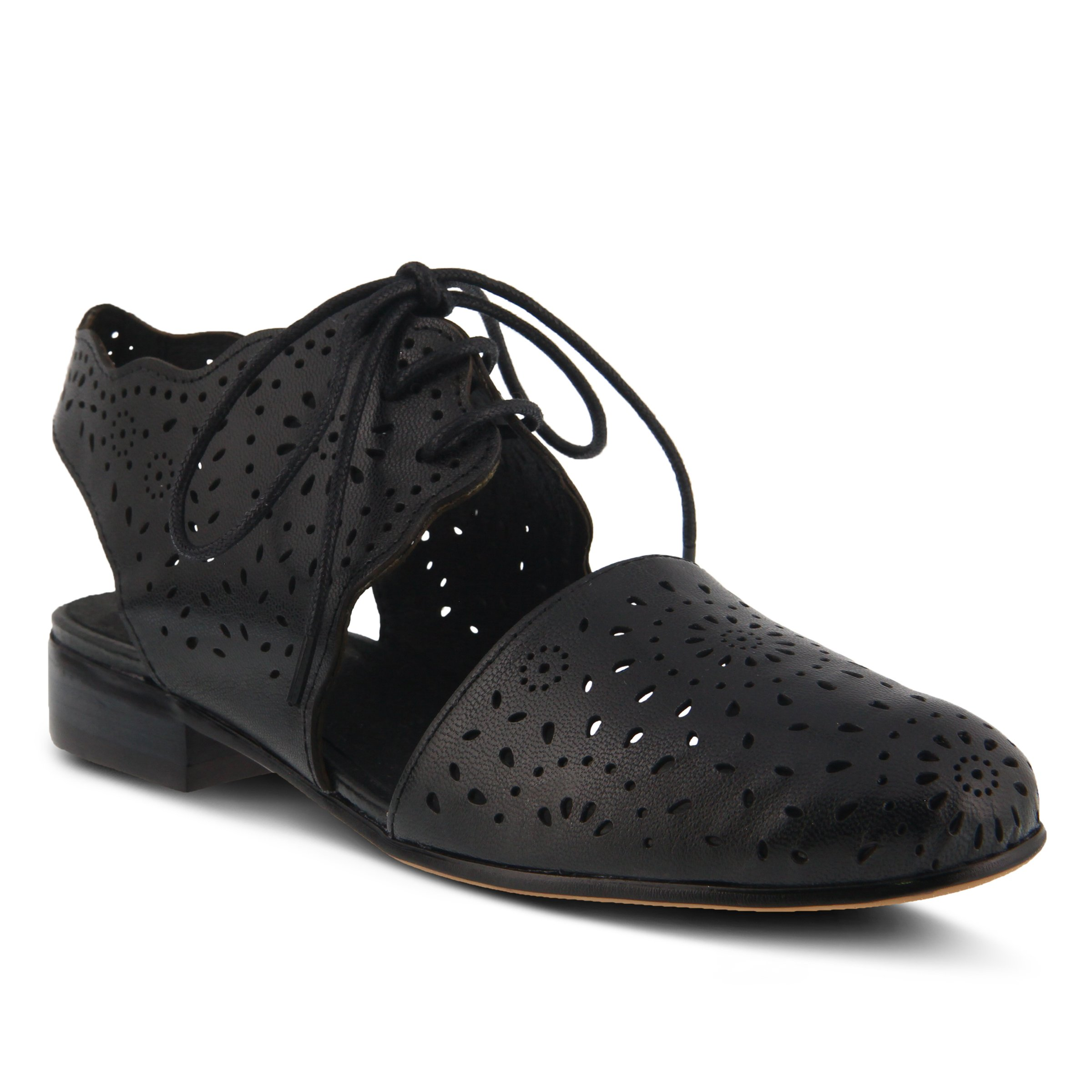 Spring Step Women's Style Neroh Black EURO Size 42 Leather Lace-Up Shoe