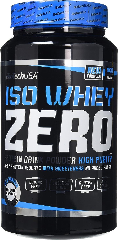 Biotech Whey Zero Lactose Free Proteínas Sabor Coco - 908 gr